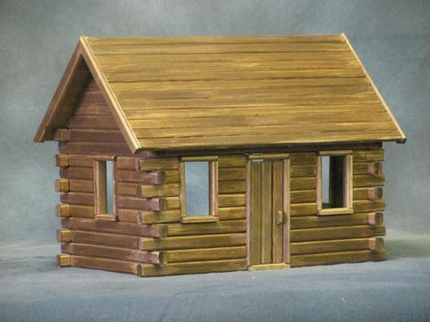 Themed dollhouse kits monumental miniatures for Large cabin kits
